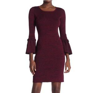 Nina Leonard Ribbed Sweater Dress